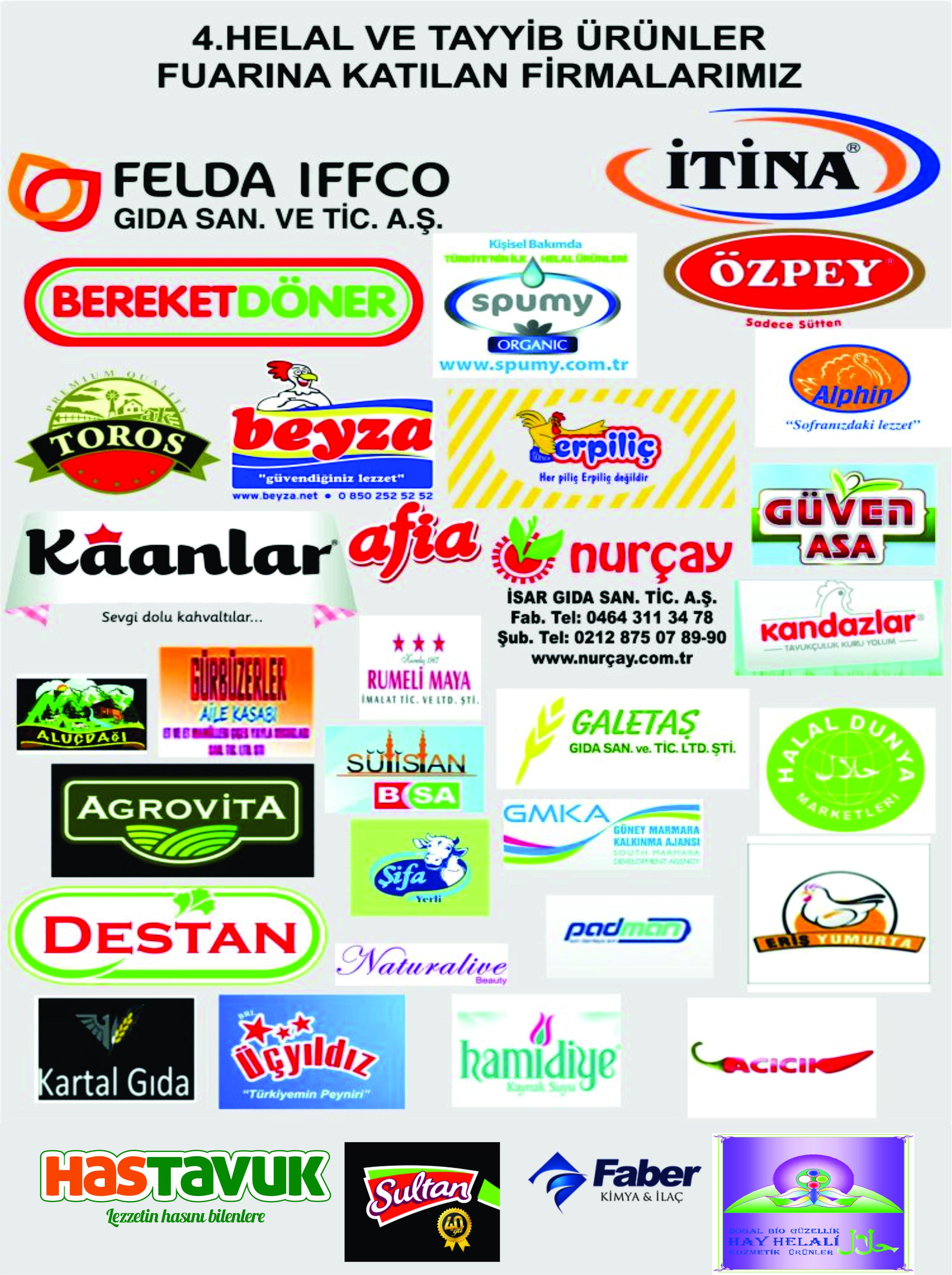 4.Helal ve Tayyib Ürünler fuarına katılan firmalarımız ...